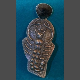 Anthony's son Joel Lovato Silver Native American Scorpion Pendant