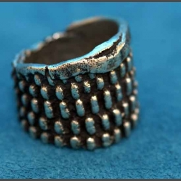 "Native American Silver ""Corn"" Ring Anthony Lovato"