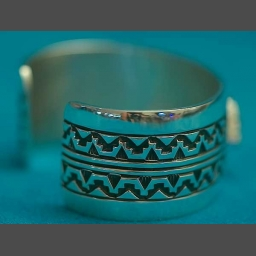 Native American Turquoise Silver Bracelet Philbert Begay