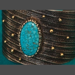Kingman Water Web Turquoise Bracelet by Matthew White