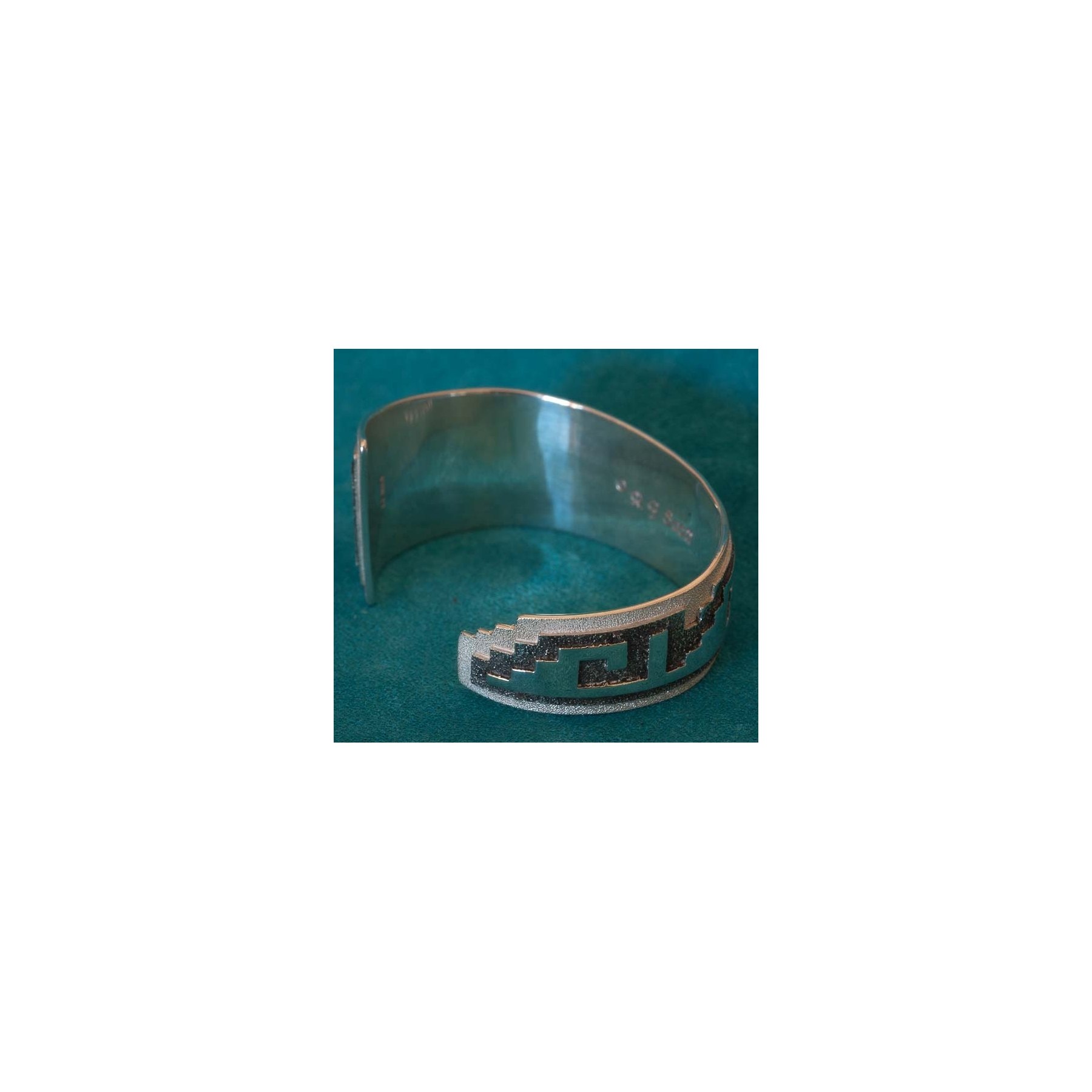 Contemporary Silvers: Native American Contemporary Silver Bracelet Ray Scott