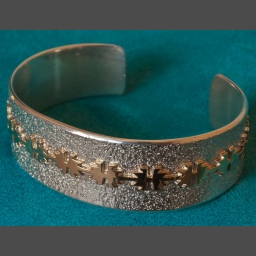 Gold Silver Native American Bracelet Al Joe