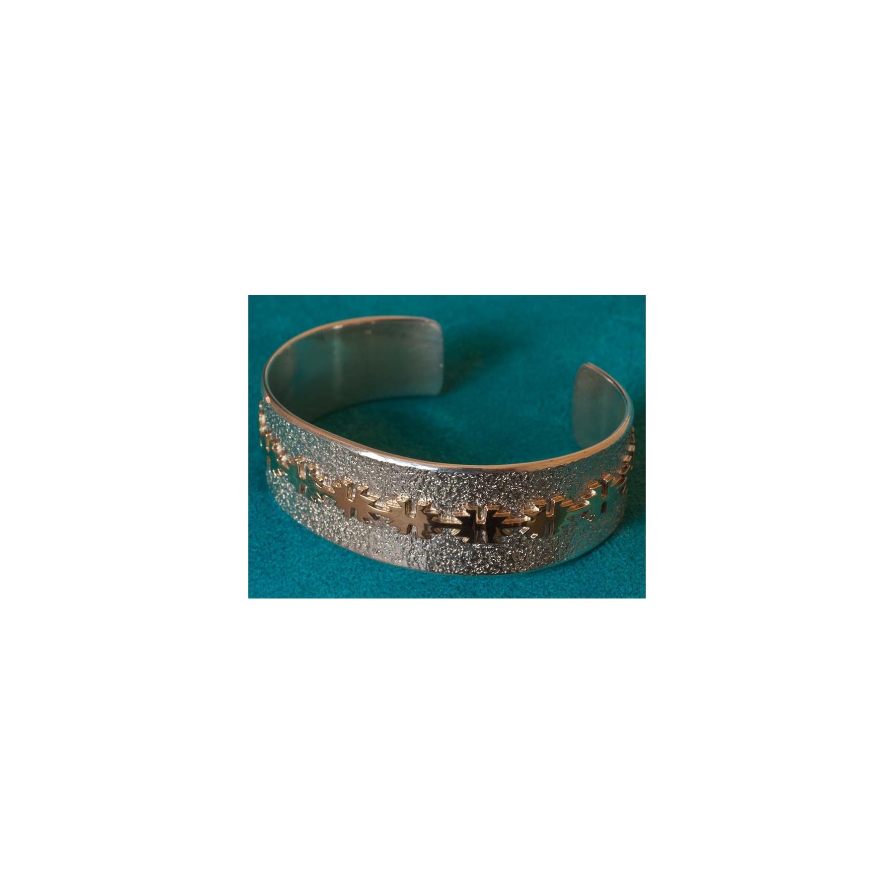 Gold Silver Native American Bracelet Al Joe Sedona