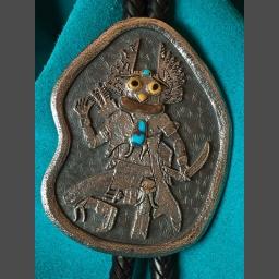 Bisbee Turquoise Bolo Tie Gerald Lomaventema