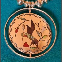 Vintage Jake Livingston Zuni Spinner Pendant