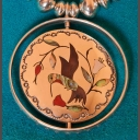 Vintage Jake Livingston Zuni Spinner Pendant