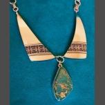 Al Joe Green Blue Royston Turquoise Eagle Pendant