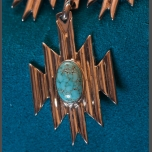 Nolan James Number 8 Turquoise Skywalker Necklace