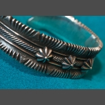 Ron Bedonie Three Star Silver Bracelet