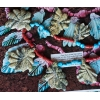 Francis Leekya Zuni Serpentine Leaf Necklace
