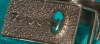 Morenci Turquoise Tufa Cast Belt Buckle