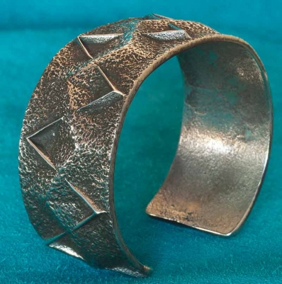 Aaron Anderson Tufa Cast Silver Bracelet