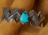 Aaron Anderson Turquoise Silver Bracelet