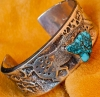 Lone Mountain Turquoise Bracelet, John Shopteese