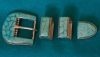 Madria Leekya Turquoise Belt Buckle Set