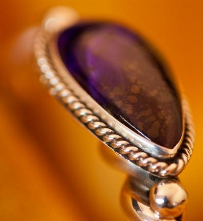 Sugalite in a Silver Bracelet by Albert Lee