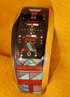 Turquoise, Jet, Coral, and Sugalite Inlaid Bracelet by Jim Harrison