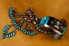 Turquoise, Coral, Sugalite Bracelet by Jim Harrison