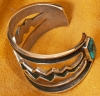 Edison Cummings Silver and Turquoise Bracelet