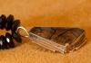 Handmade Gold Quartz Necklace by Veronica Poblano