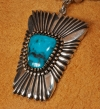 Pendant Silver Necklace by Ron Bedonie