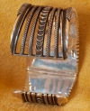Turquoise Silver Bracelet by Ron Bedonie
