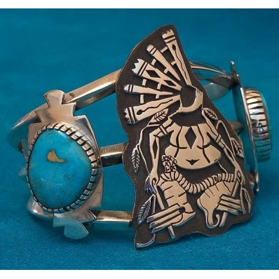 Native American Turquoise Bracelet Jerry Whagado