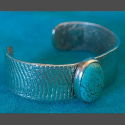 Turquoise Bracelet Native American by Olin Tsingine