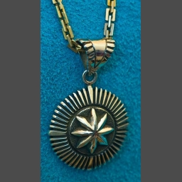native american Silver Pendant jewelry Pat Bedonie
