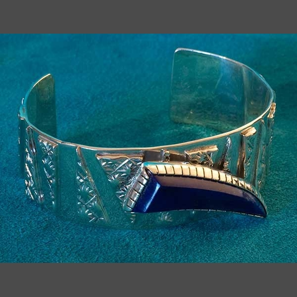 Native american silver bracelet jewelry sam lafontain