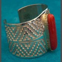 Native American Coral Bracelets