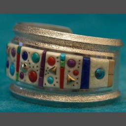 Contemporary Silver Turquoise Bracelets