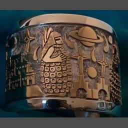 Hopi Navajo Gold Silver Turquoise Bracelets