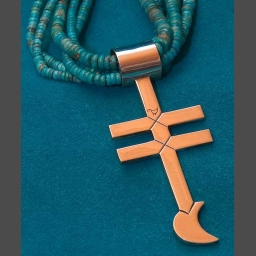 Turquoise Necklaces from Southwest Native American Silversmiths