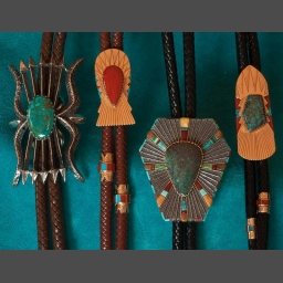 Bolo Ties Silver Gold Turquoise Native American