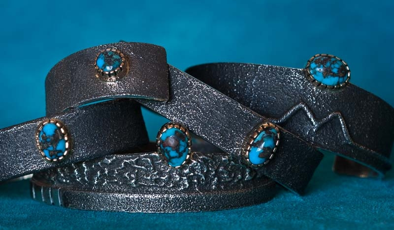 Wes Willie Persian Turquoise Bracelets
