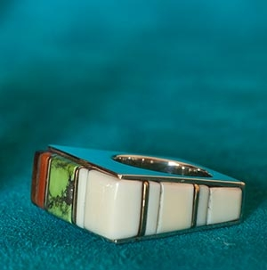 Wes Willie Fossil Ivory Ring