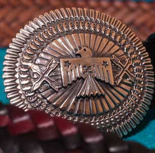 Sunshine Reeves Silver Belt Buckle