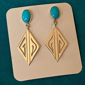 Leo Yazzie Turquoise Earrings