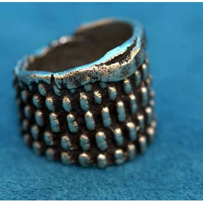 Native American Silver Quot Corn Quot Ring Anthony Lovato
