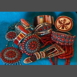 Southwest American Coral Jewelry